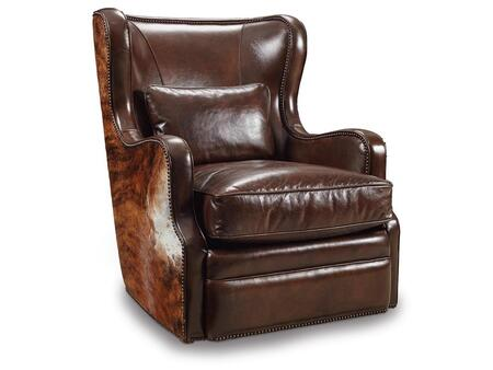 Isadora Coffee and Dark Brindle HOH Swivel Club Chair