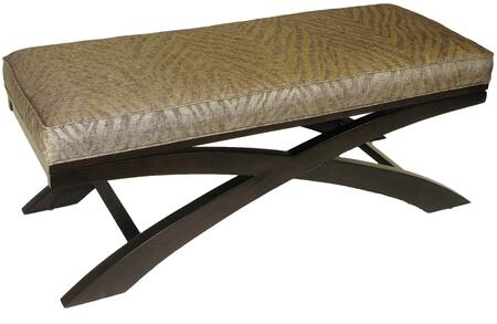 4D Concepts 77520 Entryway Armless Wood Fabric Bench