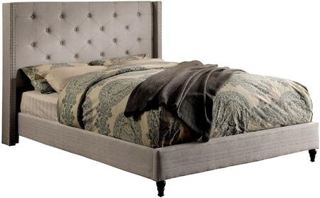 Furniture of America CM7677GYCKBED Anabelle Series  California King Size Platform Bed