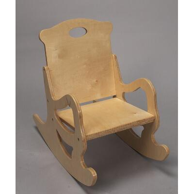 Gift Mark 1467 X Secured Puzzle Solid Wood Back and Single Seat Rocking Chair in