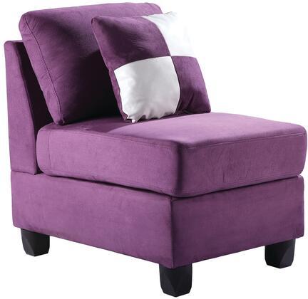 Glory Furniture G637AC Suede  in Purple