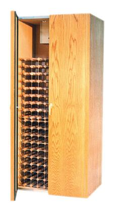 Vinotemp VINO-440TDx Two Door Provincial Oak Wine Cooler Cabinet,
