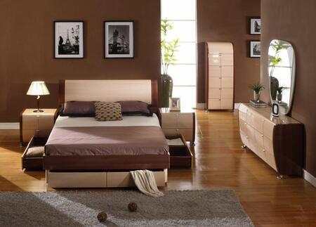 VIG Furniture VGDAFMAYAQ5PCSET Modrest Maya Beds