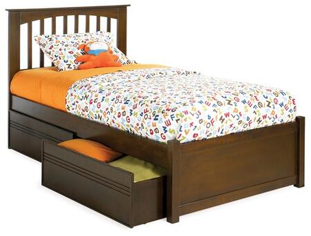 Atlantic Furniture BROOKLYNFPFTWINNM Brooklyn Series  Twin Size Bed