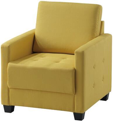 Glory Furniture G770C Fabric Armchair in Yellow