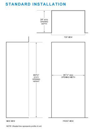 Sub Zero Bi36ufdo 36 Inch Counter Depth French Door