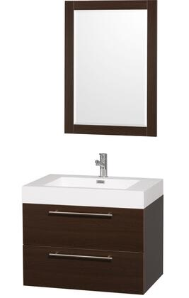 """Wyndham Collection WC-R4100-30-AR Amare 30"""" Sink Vanity with Acrylic-Resin Top and Integrated Square Sink in"""
