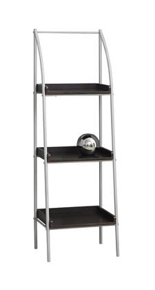 "Monarch I7248BKC 48"" Bookcase with Metal Tube Frame and 3 Fixed Shelves in"