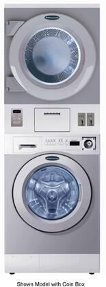 "Crossover WDSG 27"" Energy Star Rated Stacked Washer and Gas Dryer with 3.5 cu. ft. Washer Capacity, 7.5 cu. ft. Dryer Capacity, 4 Wash Programs, 45 RPM Wash Speed, 50 RPM Tumbling Speed, 3 Soap Drawers, and Stainless Steel Lint Screen, in Grey"