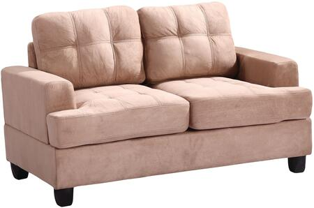 Glory Furniture G514AL Suede Stationary Loveseat