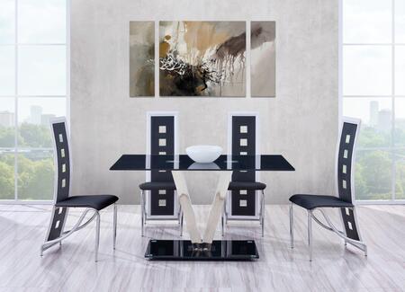 Global Furniture USA D551DT4D803DCBL D551 Dining Room Sets