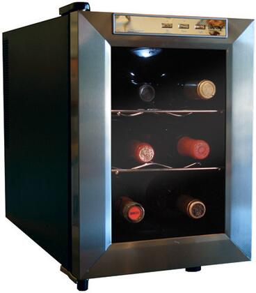 "Vinotemp VT12TEDS 13.5"" Freestanding Wine Cooler, in Black"