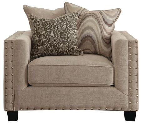 Coaster 505453 Lyonesse Series Fabric Armchair with Wood Frame in Beige