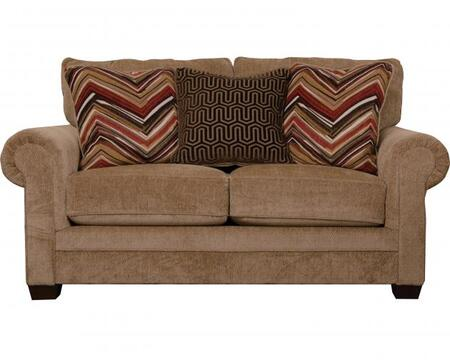 """Jackson Furniture Anniston Collection 4342-02- 71"""" Loveseat with Chenille Fabric Upholstery, Three Toss Pillows and Reversible Seat Cushions in"""