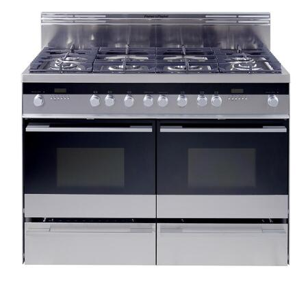 Fisher Paykel OR48DDPWGX1  Dual Fuel Freestanding Range with Sealed Burner Cooktop, 2 cu. ft. Primary Oven Capacity, Warming in Stainless Steel