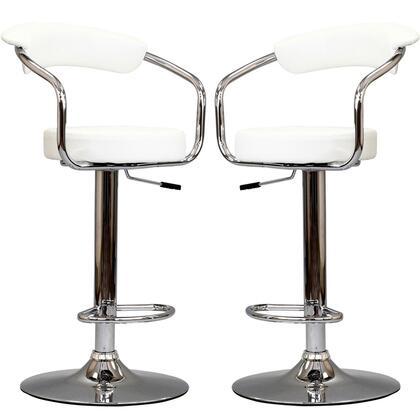 Modway EEI930WHI Diner Series Residential Vinyl Upholstered Bar Stool