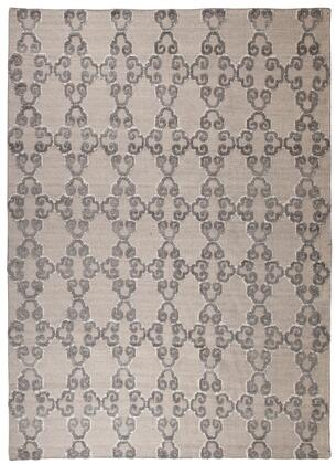 """Signature Design by Ashley Patterned R40146 """" x """" Size Rug with Hand-Knotted Made, Bamboo Viscose Material, Made in India and Dry Clean Only in Grey and Color"""