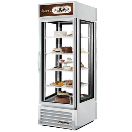 True G4SM-23 23 Cu. Ft. Four-Sided Swing-Door Refrigerator Merchandiser with 4 Shelves, LED Lighting, and Thermal Insulated Glass Doors