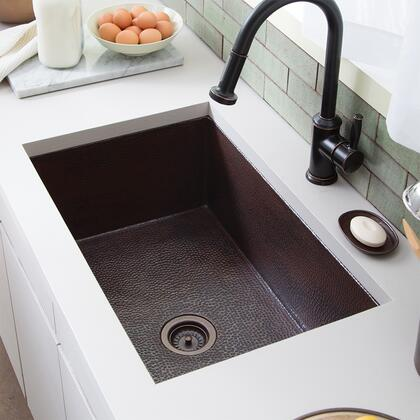"""Native Trails Copper Kitchen Sinks Collection Cocina 30"""" Kitchen Sink with 3.5"""" Drain Opening, Single Bowl, 16 Gauge Hand Hammered and Recycled Copper Material in"""