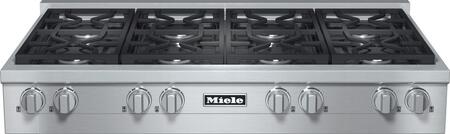 """Miele KMR1354LP 48""""  Gas Sealed Burner Style Cooktop, in Stainless Steel"""