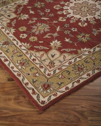 """Signature Design by Ashley Maroney R40039 """" x """" Size Rug with Traditional Design, Hand-Tufted, 9mm Pile Height and Wool Backed with Cotton Material in Red Color"""