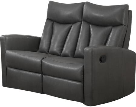 "Monarch I 87X 50"" Reclining Sofa with Lumbar Support, Comfortably Padded and Bonded Leather"