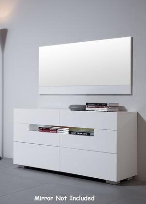 """VIG Furniture VGWCCG05D Modrest Ceres 55"""" Wide Dresser with 6 Self-Closing Drawers, LED Lighting and High Gloss Finish"""