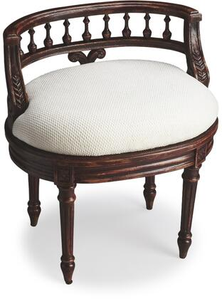 Butler 1218227 Hataway Series Bedroom Fabric Wood Frame Accent Chair