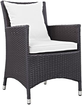 Modway EEI1913EXPWHI Convene Series  Patio Arm Chair