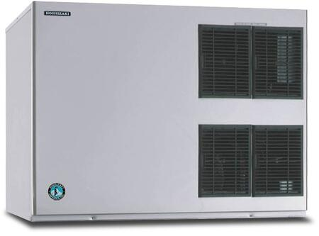 """Hoshizaki KM-1900SxH 48"""" Stackable Ice Maker Modular With 1919 lbs. Daily Ice Production, Stainless Steel Evaporator, H-GUARD Plus, CycleSaver Design, And Crescent Ice Cubes: Stainless Steel"""