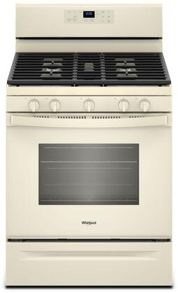 """Whirlpool WFG525S0H 30"""" Freestanding Gas Range with 5 Sealed Burners, 5 cu. ft. Oven Capacity, Self-Clean, 3 Piece Grates and XL Viewing Window, in"""