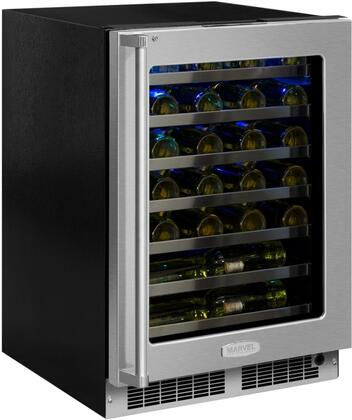 "Marvel MP24WST 24"" Marvel Professional High-Efficiency Single Zone Wine Refrigerator with Dynamic Cooling Technology, Vibration Neutralization System, Thermal Efficient Cabinet, Door Lock, Soft Close Integrated Hinge, and Heavy Gauge Wire Racks, in"
