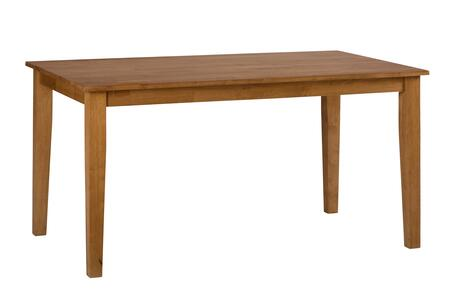 "Jofran Simplicity Collection X5260 60"" Rectangle Dining Table with Solid Rubberwood, Tapered Legs and Casual Style in"