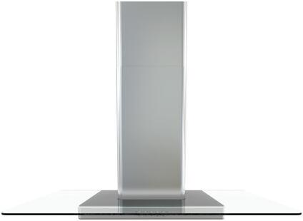 """Zephyr BFG-E30AGX 30"""" Brisas Series Chimney Wall Mounted Range Hood with XX CFM Internal Blower, Flat Glass Canopy, 3 Speed Push Button Controls, 6"""" Round Vertical Ducting, in Stainless Steel"""