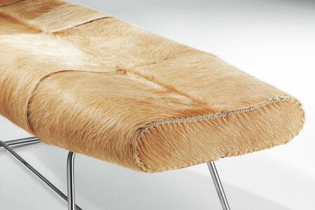 Modloft BCO011ASCA Carey Series Accent Armless Natural Hair Animal Hide Bench