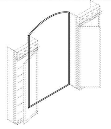 Robern RF4046ARC C Series Arched  Mirror