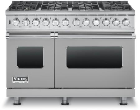 """Viking VDSC5488BXXLP 48"""" Professional 5 Series Liquid Propane Dual Fuel Range with 8 Sealed Burners, SureSpark Ignition System, TruConvec Convection Cooking and Gourmet-Glo Infrared Broiler, in"""