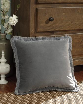 """Signature Design by Ashley D'Artagnan A100036XP Single 20"""" x 20"""" Pillow with Fringes, Polyester Cover and Zipper Closure in"""