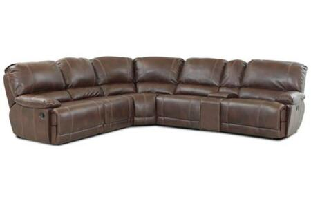 Klaussner DARIUSSECTIONAL Darius Series Reclining Bonded Leather Sofa