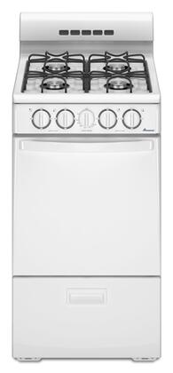 Amana AGP200VDW  Gas Freestanding Range with Open Burner Cooktop, 2.6 cu. ft. Primary Oven Capacity, Broiler in White