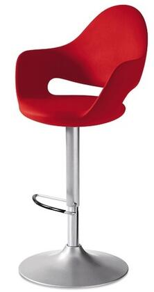 Domitalia SOFTASROZ15 Soft Series Polyurethane Upholstered Bar Stool