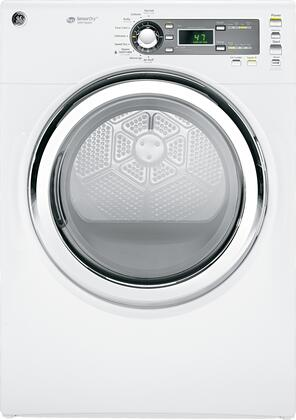 """GE GFDS150GDWW 27"""" Gas  Gas Dryer with  4 Temperature Settings Steam Cycle