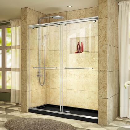 DreamLine Charisma Shower Door RS39 60 01 88B CenterDrain E