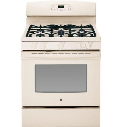 """GE JGB650 30"""" Freestanding Gas Range with 5 Sealed Burners, 5.0 cu. ft. Oven Capacity, 17,000 BTU Burner, Self-Clean, Continuous Grates, Center Oval Burner, and Sabbath Mode in"""