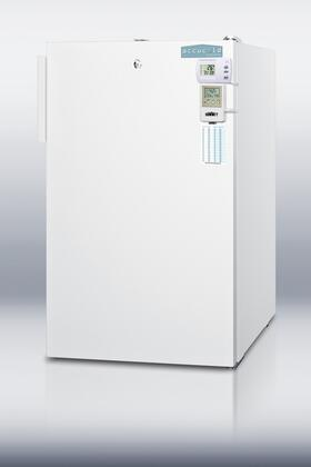 Summit FF511LBI7MEDSCADA AccuCold Series Compact Refrigerator with 4.1 cu. ft. Capacity in White