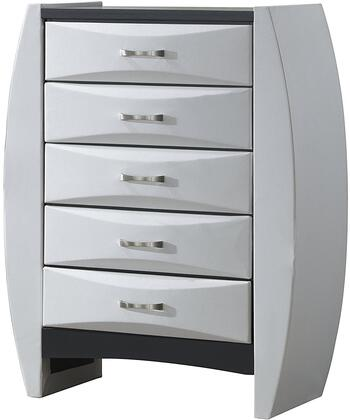 "Glory Furniture 37"" Chest with 5 Drawers, Beveled Drawer Fronts, Metal Hardware and Wood Construction in"
