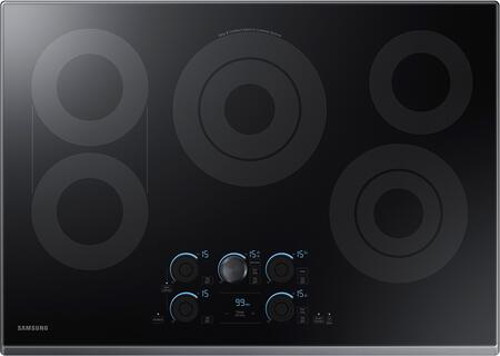 """Samsung NZ30K7570RT 30"""" Electric Cooktop with 5 Elements, Rapid Boil, Magnetic Knob Tap Touch, Sync Elements and Wifi, in"""
