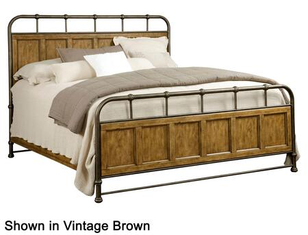 Broyhill New Vintage 4807METALWOOD Metal/Wood Bed with Spindle Design on the Metal, Panel Details on the Wood and Footboard with 5 Slats Included in Vintage White