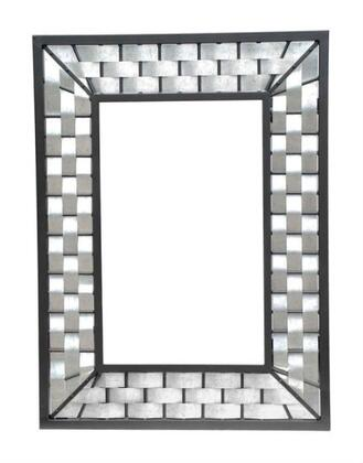 Stone County Ironworks 938010SMLGAL  Square Portrait Wall Mirror