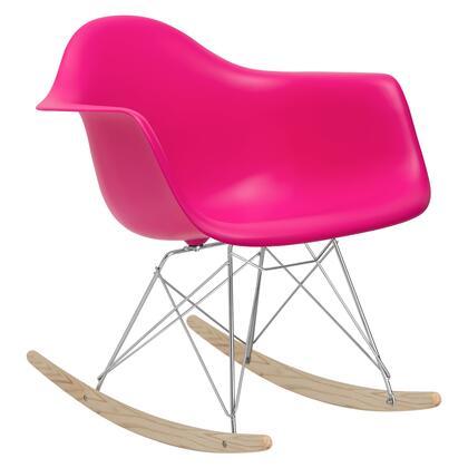 EdgeMod EM121FUS Rocker Series  Wood and Metal Frame Rocking Chair